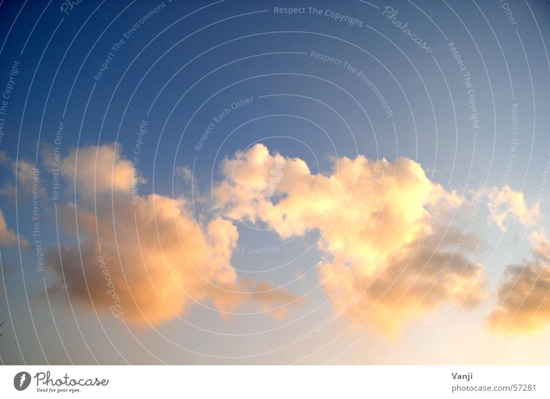 heavenly Clouds Sunset Moody Soft Romance Trust Peace Aviation Sky Blue