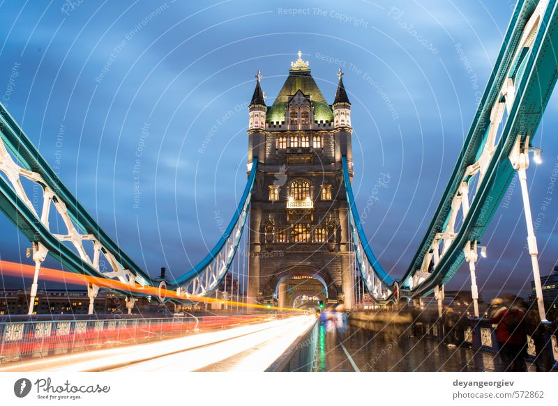 London Tower bridge on sunset Sky Blue Old City Architecture Stone Bright Tourism Europe Bridge River Symbols and metaphors Historic Illuminate Monument