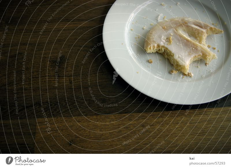 Sweet Cake Delicious Plate Sugar Baked goods Crumbs Pig's ear cookie Edge of a plate Series of photos