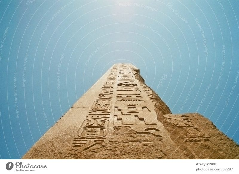 obelisk Egypt Karnak Granite Relief Temple Theben Pharaohs Monolith Manmade structures Statue Dazzle Sky Obelisk atreyu Old Tall