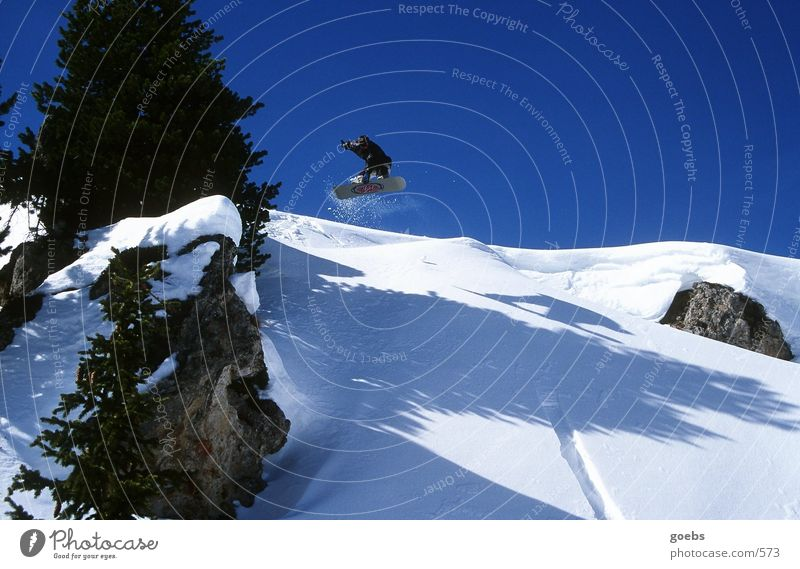 Winter Mountain Snow Sports Jump Alps Snowboarding Snowboarder Winter sports Air