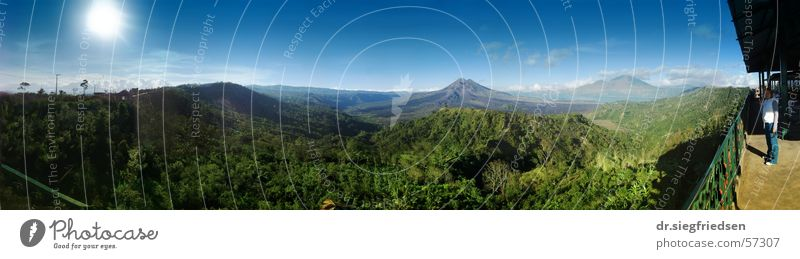 Caldera of Mount Batur, Bali Panorama (View) Crater rim crater sun indonesia mountain Large Panorama (Format)