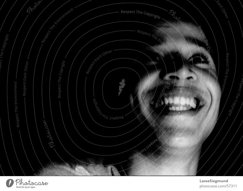 simo Black White Friendliness Background picture Morocco Africa Face Laughter Grinning Black & white photo wheels 120 Joy Moroccan Teeth