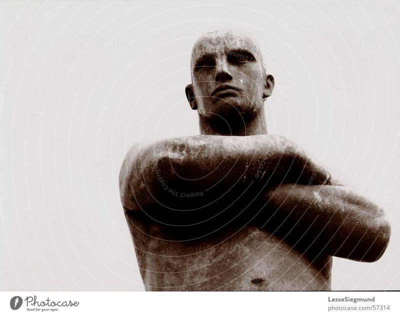 Black Gray Stone Art Force Might Image Strong Statue Monument Traffic infrastructure Sculpture Evil Hero Norway Torso