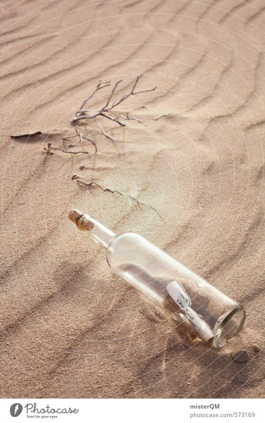 Loneliness Calm Sand Art Wind Contentment Glass Esthetic Romance Desert Information Beach dune Bottle Symmetry Neck of a bottle Cork