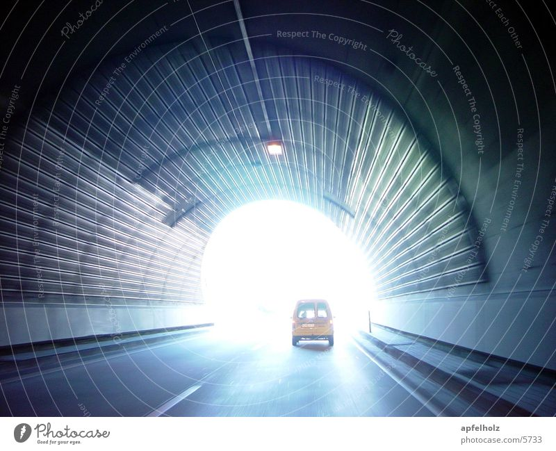 light at the end of the tunnel Tunnel Light Highway vehicles