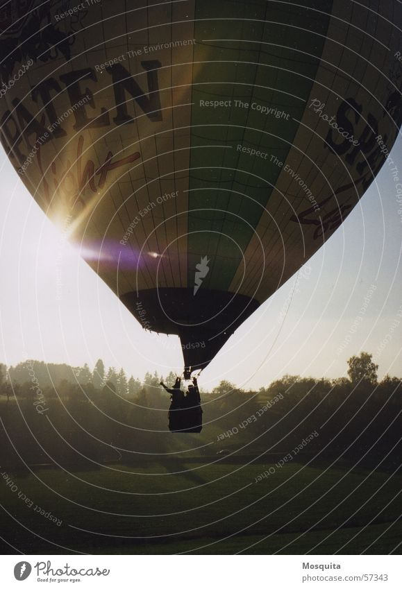 Sun Autumn Flying Beginning Hot Air Balloon Goodbye Valley Wave