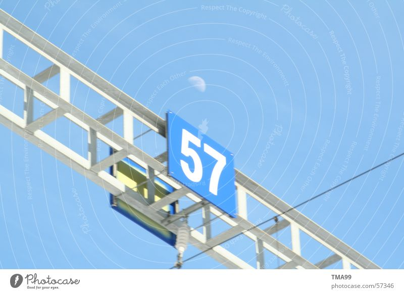 57 with moon Switzerland Tunnel Moon Blue sky Railroad Traffic infrastructure Vacation & Travel