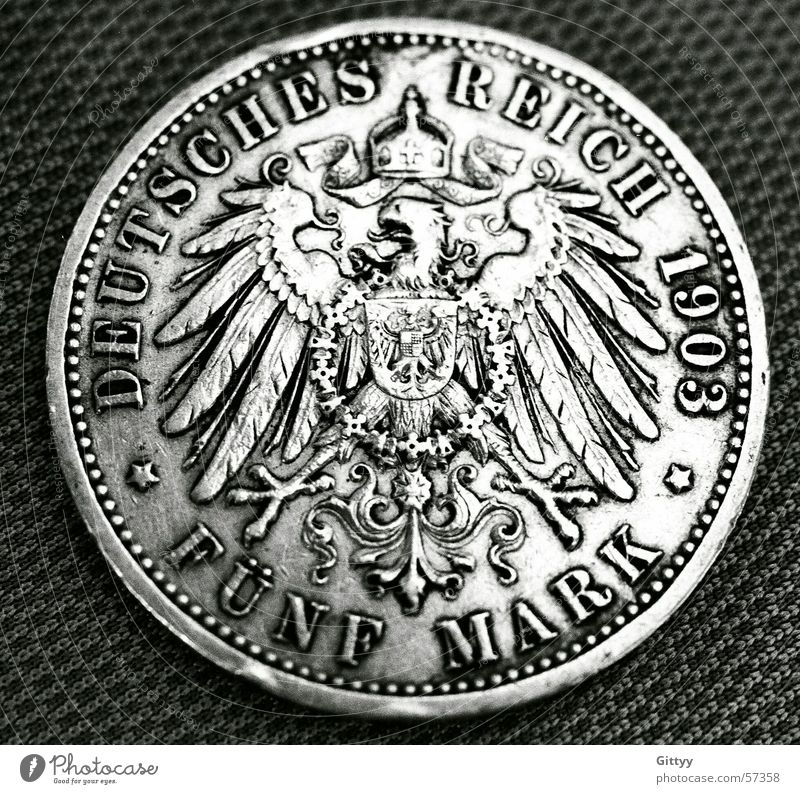 five marks Money Coin Federal eagle Germany Past