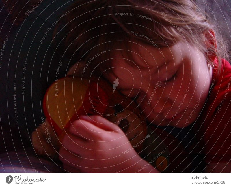 ... wonderfully safe Child Girl Sleep Contentment Teddy bear Human being intact world