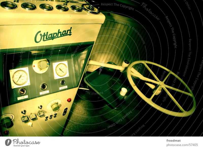 Otlaphari Dentist Machinery Typography Shift work Night Green Buttons Equipment Heater light painting