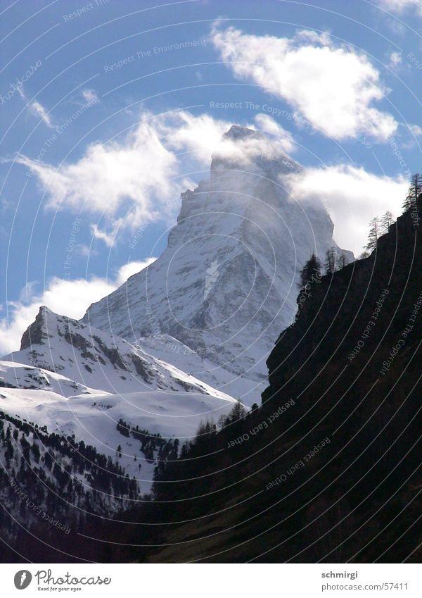 Nature Beautiful White Blue Winter Clouds Snow Mountain Stone Weather Switzerland Alps Heavenly Matterhorn