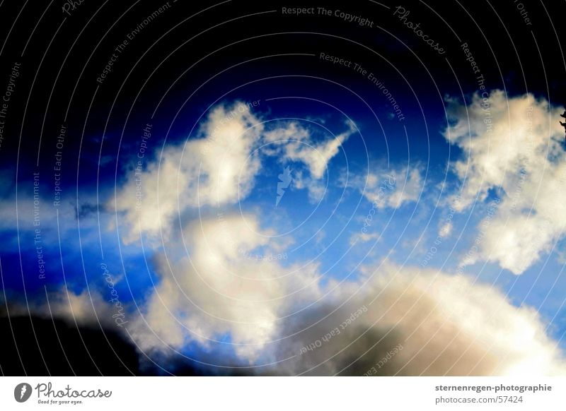 Sky Blue Clouds Freedom Rain Airplane Flying Thunder and lightning