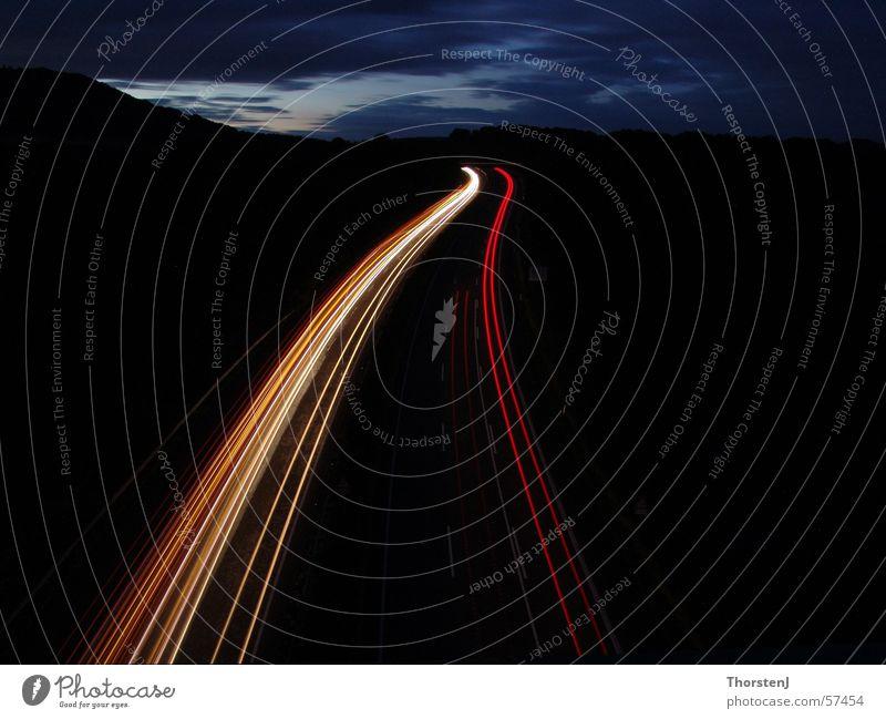 motorway at night Highway Night Long exposure