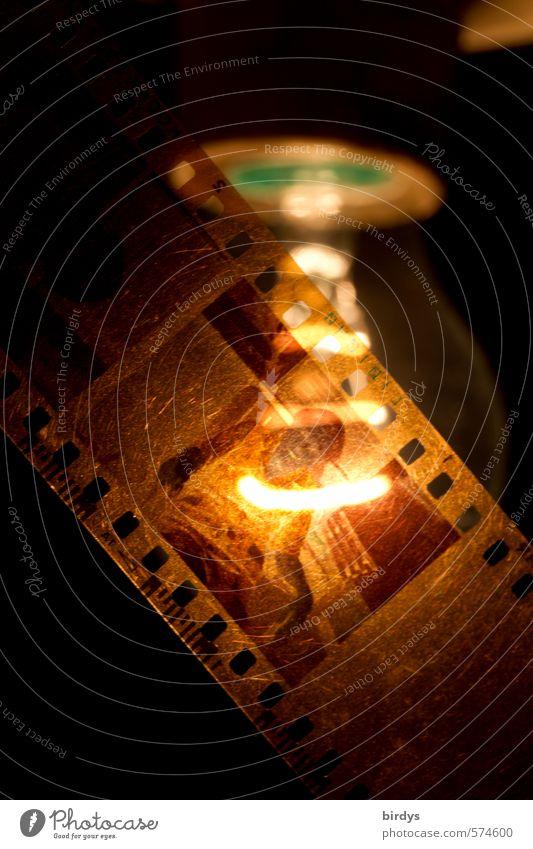reminiscences Sprocket holes (film) Film Photography Electric bulb Analog Illuminate Old Esthetic Original Senior citizen Nostalgia Past Memory