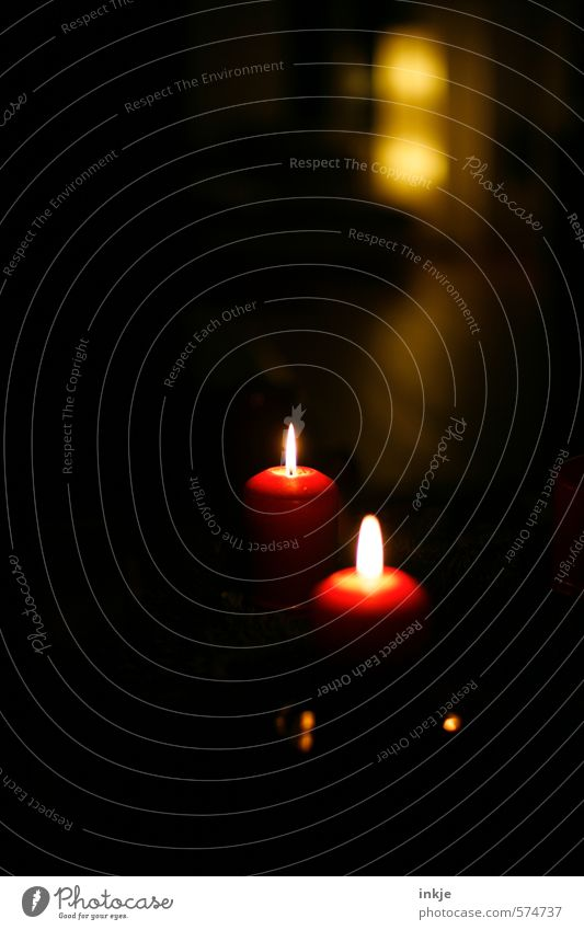 Christmas & Advent Beautiful Red Calm Black Dark Yellow Warmth Emotions Moody Leisure and hobbies Idyll Living or residing Contentment Lifestyle Illuminate