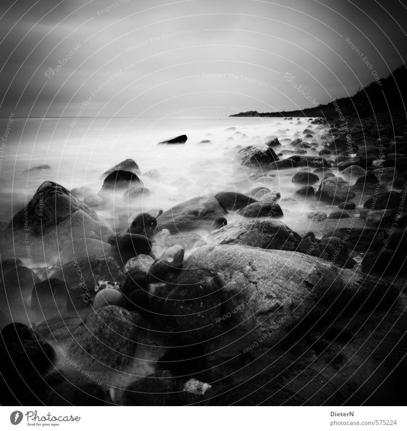 coastal line Beach Waves Landscape Sand Water Sky Horizon Spring Coast Baltic Sea Stone Discover Relaxation Sharp-edged Power Far-off places