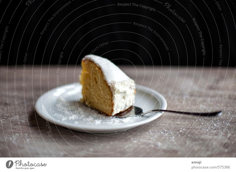 Sunday sweet Cake Dessert Candy Piece of gateau Nutrition Plate Delicious Sweet Rich in calories Colour photo Interior shot Studio shot Deserted Copy Space top