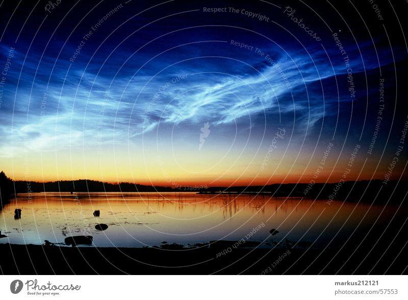 Lake Finland Midnight sun