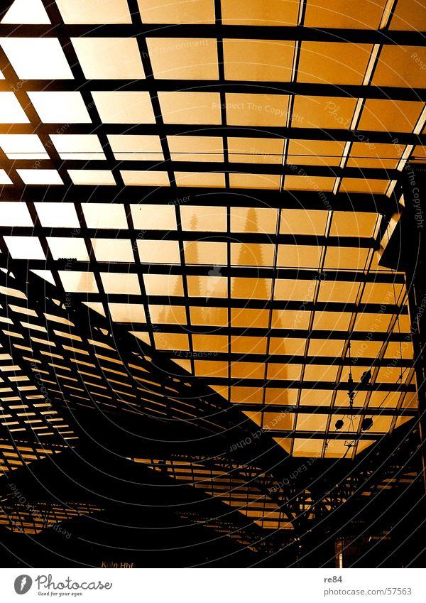 White Sun City Black Line Religion and faith Orange Glass Railroad Point Cologne Train station Dome Arch Curved