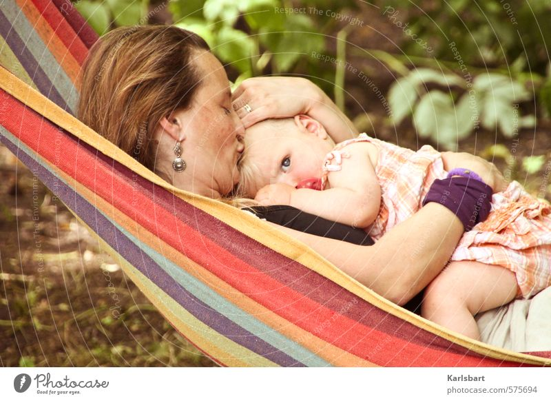 Human being Woman Child Nature Girl Adults Feminine Freedom Happy Healthy Garden Family & Relations Living or residing Infancy Baby Mother