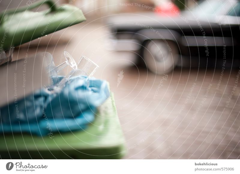 don't drink and drive Marketplace Motoring Street Vehicle Car Moody Trash container Sparkling wine Champagne glass Alcohol-fueled Black Shallow depth of field