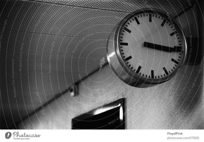 Time Clock Stagnating Black & white photo Canton Bern Grainy