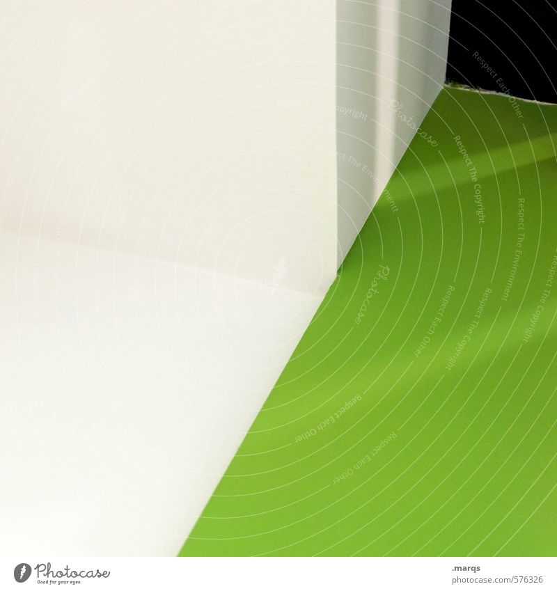  / Lifestyle Style Design Interior design Architecture Exceptional Cool (slang) Sharp-edged Hip & trendy Modern Green White Arrangement Perspective Illustration