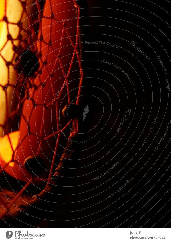 dreamcatcher Red Yellow Black String Light Orange Pearl Sewing thread Dreamcatcher Colour photo Dark background Detail Net Arts and crafts  Plaited Deserted