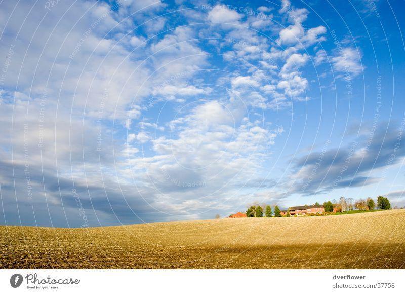 Sky Clouds Landscape Field Farm