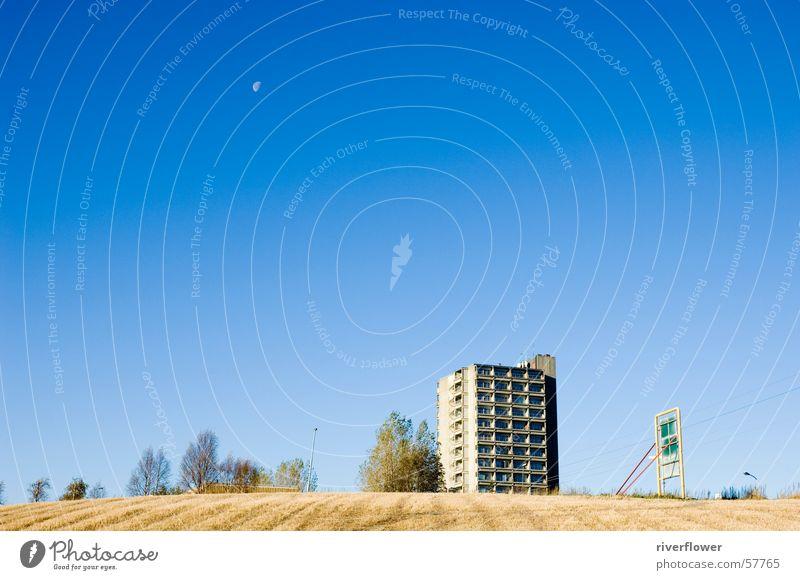 Norwegian Moon High-rise Field Sky Landscape Blue Architecture