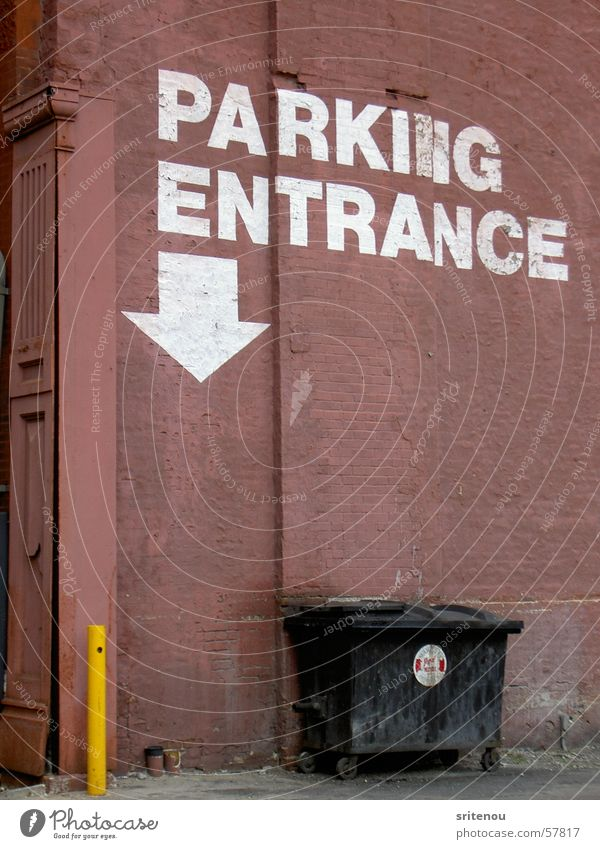 Park Here Indianapolis Parking lot Avenue Brick Entrance dumpster building alley old decay indy