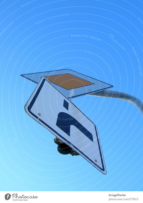 Sky Blue Street Signs and labeling Transport Right Road sign Sky blue Street sign Turn off Consecutively Main street Mainstream