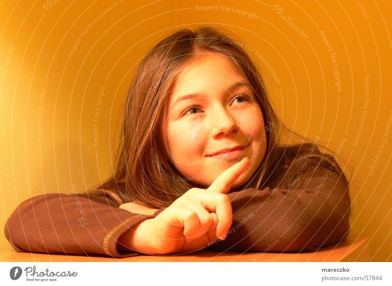 Show where you're looking Child Fingers Girl Gesture Woman Orange neogiric Eyes Indicate Looking Enthusiasm Laughter Human being Face