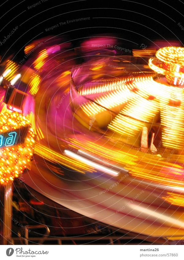 Joy Yellow Dark Lighting Speed Technology Leisure and hobbies Fairs & Carnivals Rotate Neon light Oktoberfest Enthusiasm Illumination Lifeless Carousel