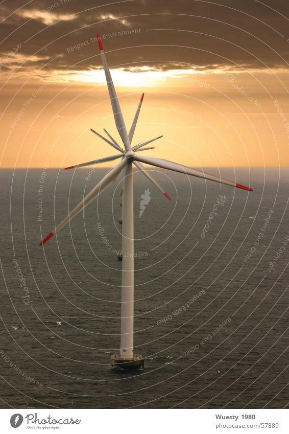 Ocean Power Wind Energy industry Wing Wind energy plant Renewable energy Sunset Synchronous