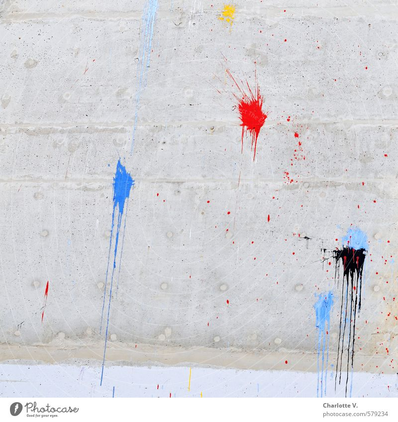 City Blue Red Black Yellow Wall (building) Graffiti Dye Building Wall (barrier) Gray Line Wild Illuminate Decoration Authentic