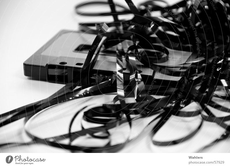 The Good Old Time II Tape cassette Black White Gray scale value Music Stereo Mono Abstract Muddled Worm Alternative Retro Old-school Tape spaghetti String