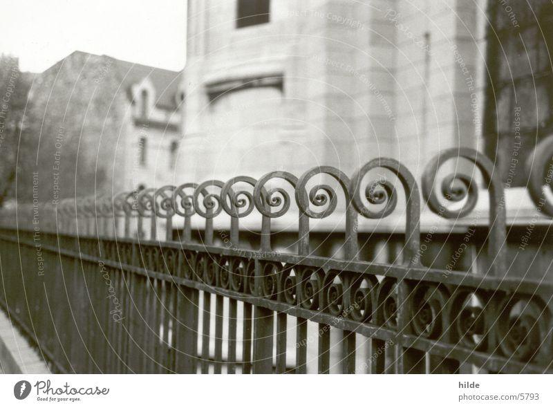 fence Fence Historic Black & white photo iron fence