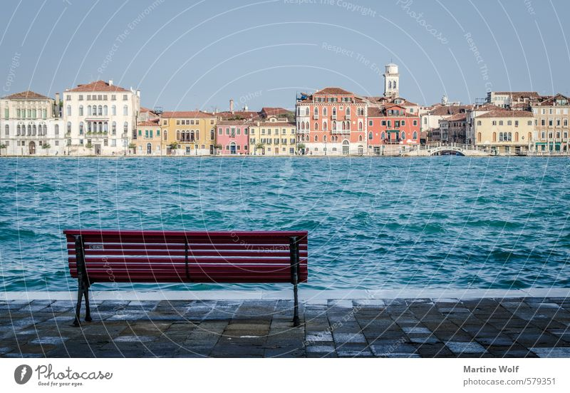 view to Venice Coast Island Italy Europe Village Town House (Residential Structure) Vacation & Travel Calm Dorsoduro Isola della Giudecca Bench Colour photo
