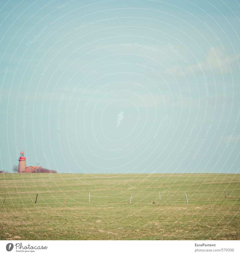 outside left Vacation & Travel Tourism Environment Nature Landscape Sky Clouds Summer Autumn Plant Grass Meadow Field Lighthouse Manmade structures Building