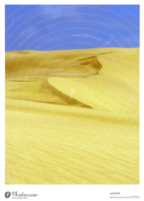 Sky Yellow Sand Desert New Zealand