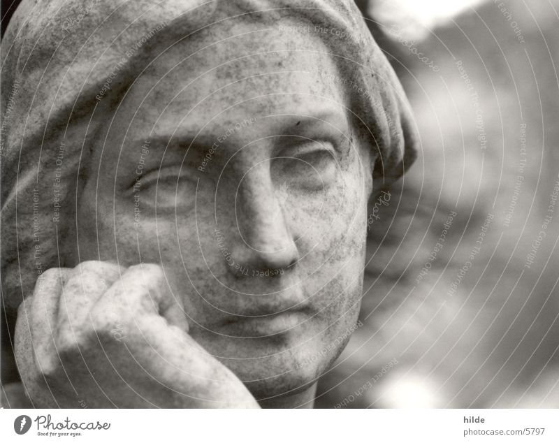Woman Stone Think Leisure and hobbies Statue Cemetery Marble Granite Sculptor
