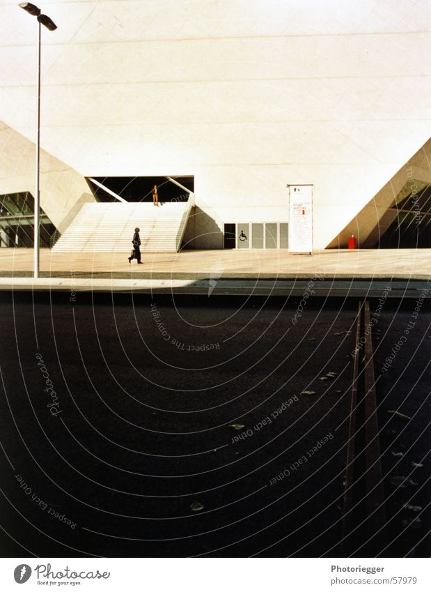 postage 2005 Lantern Railroad tracks Portugal Entrance Human being Street casa da musica rem koolhaas Shadow Stairs Architecture