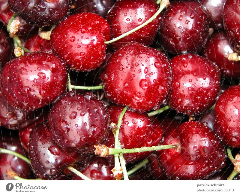 Red Wet Fruit Fresh Delicious Cherry