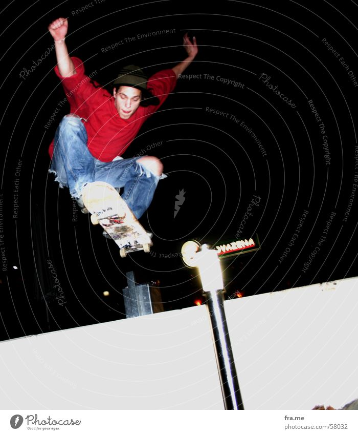 Ollie Skateboarding Jump Bremen Night Sports Trick Exterior shot dennis Stairs Funsport Extreme sports Germany