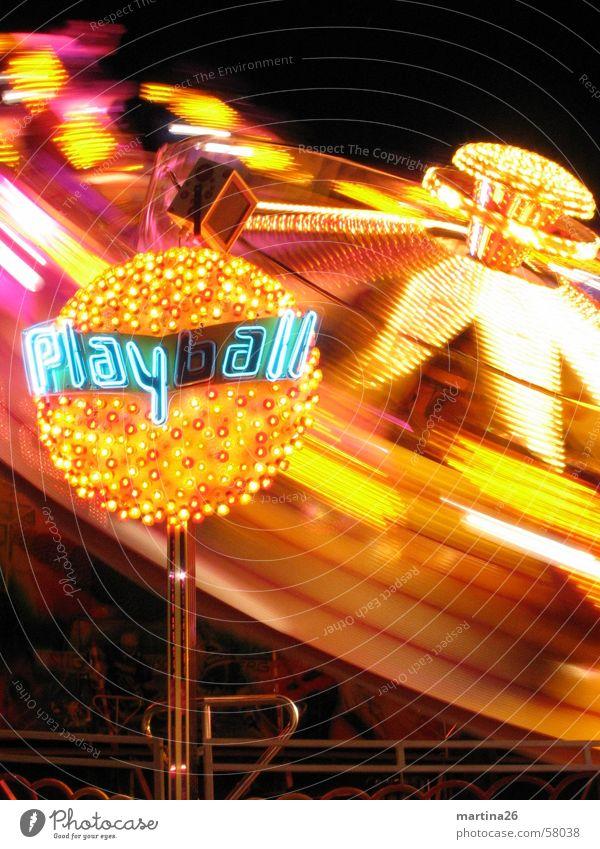 Joy Yellow Dark Lighting Speed Technology Leisure and hobbies Fairs & Carnivals Rotate Neon light Oktoberfest Enthusiasm Illumination Lifeless Carousel