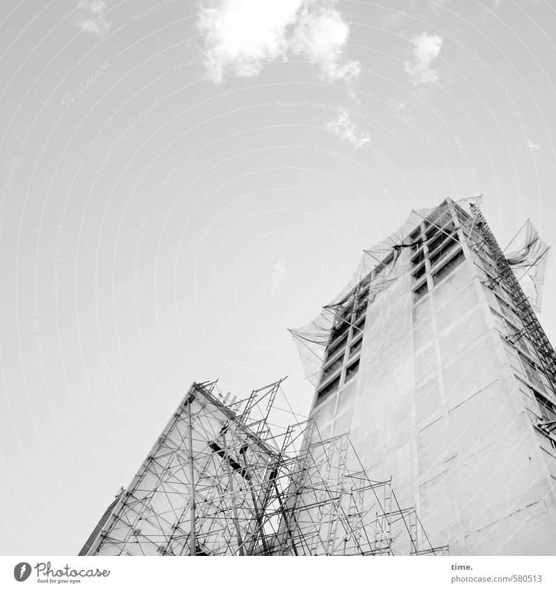 City Wall (building) Building Wall (barrier) Facade High-rise Design Arrangement Tall Beautiful weather Communicate Roof Change Creativity Safety Planning