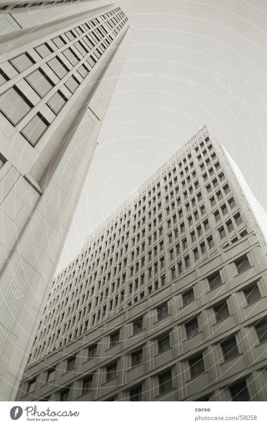 scrapers Potsdamer Platz High-rise Sky Black & white photo high