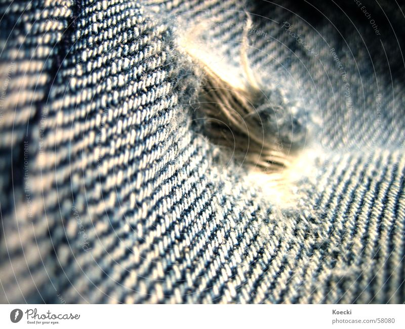 Blue Jeans Broken Pants Cloth Hollow Sewing thread Thread